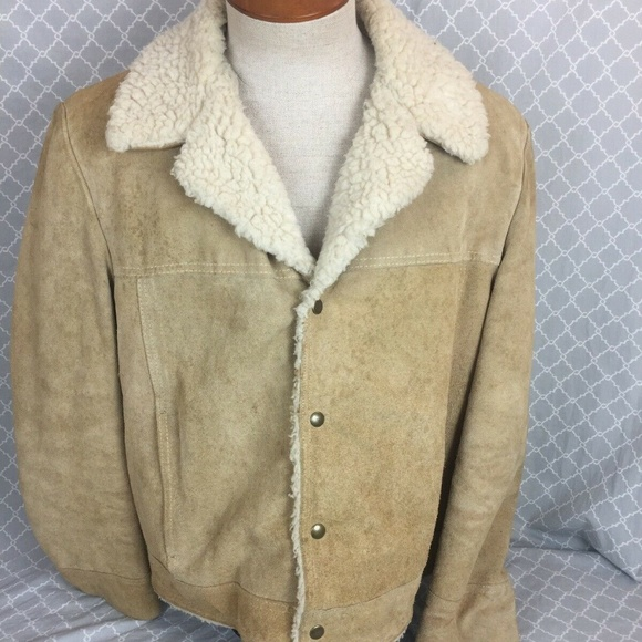c1efdfd96390c jcpenney Other - Vintage JC Penney Men s Suede Jacket Sherpa Lined